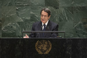 General Assembly Seventy-fourth session, 7th plenary meeting His Excellency Nicos Anastasiades, President, Republic of Cyprus