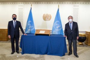 New Permanent Representative of Cyprus Pays Courtesy Call to Secretary-General
